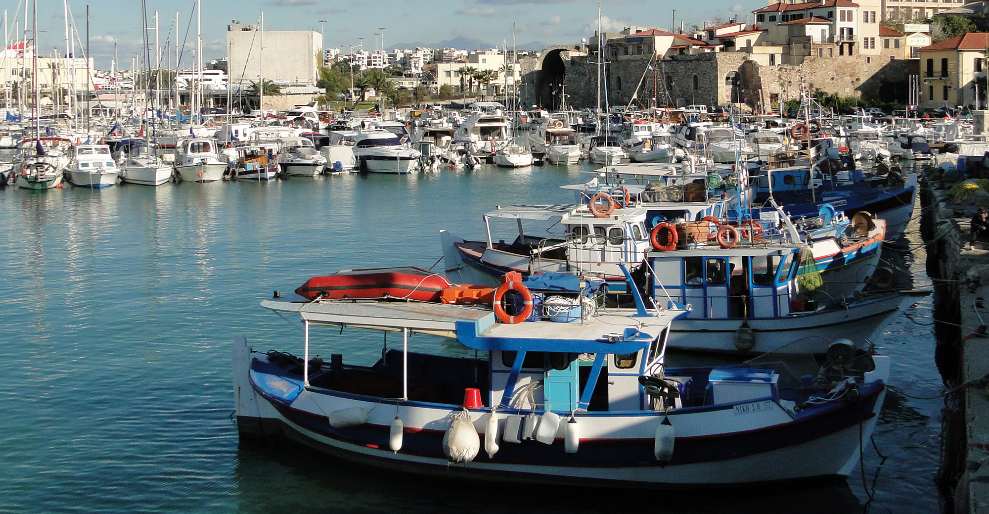 Heraklion Port in Crete