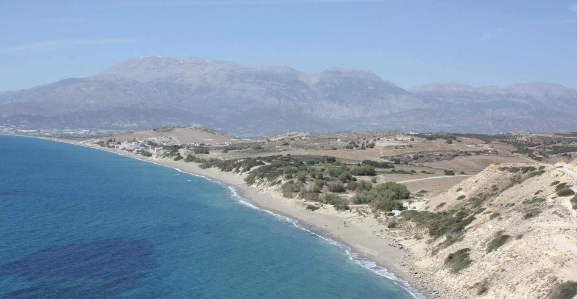 Komos Beach in Crete